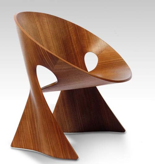 Unique Chair Design Mobius Wood Chair Design Unique and Contemporary