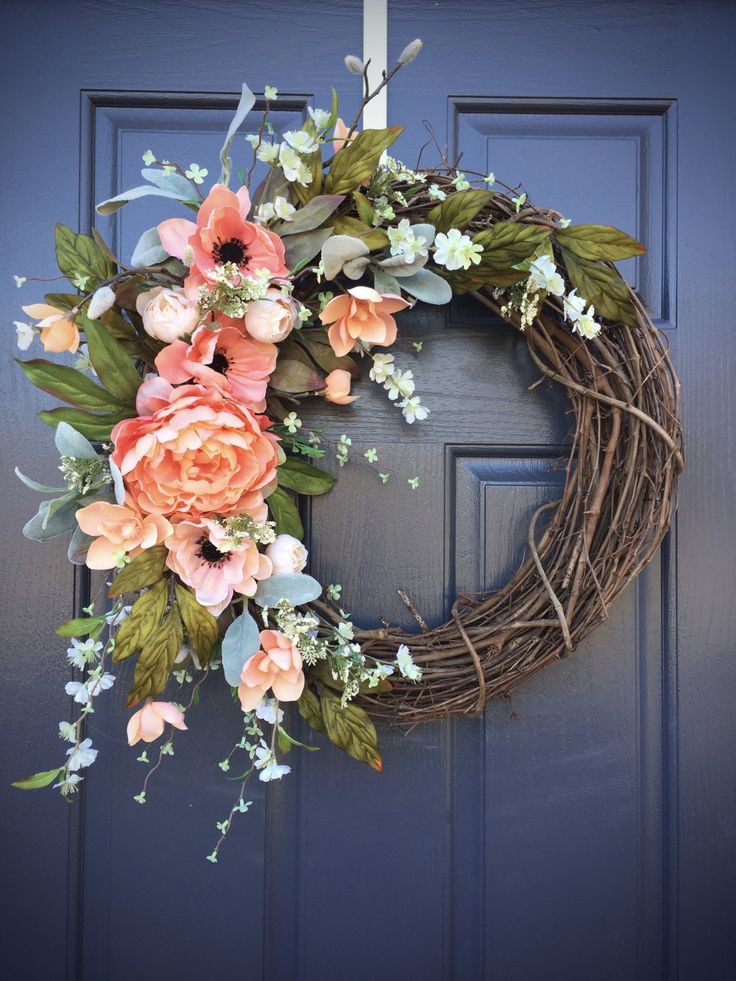 Unique Door Decoration 25 Unique Spring Wreaths Ideas On Pinterest