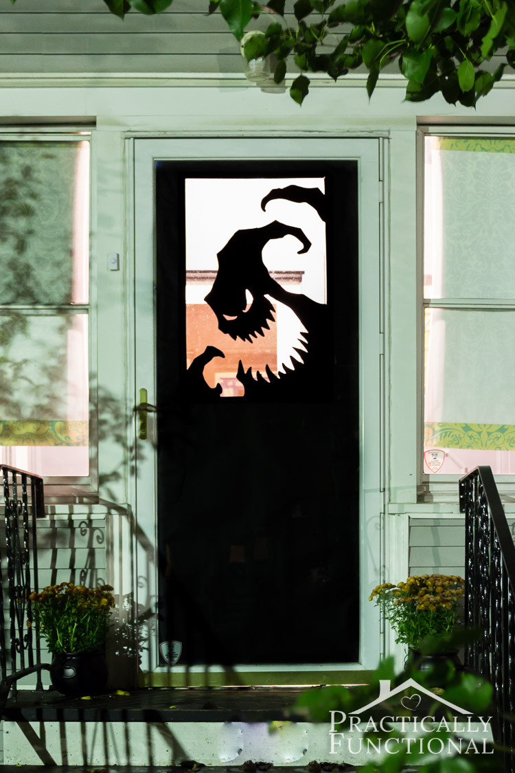Unique Door Decoration Diy Vinyl Halloween Door Decorations