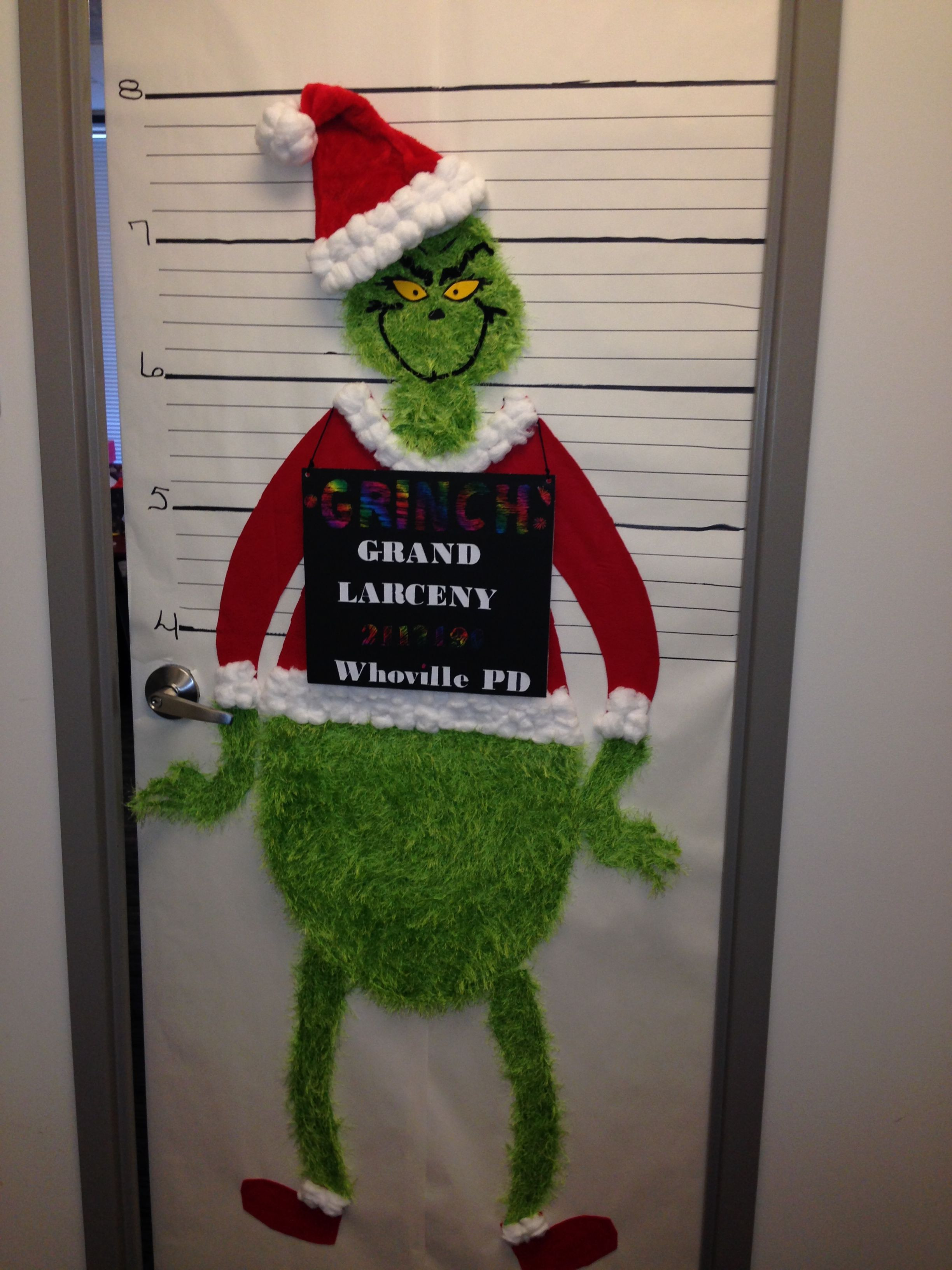 Unique Door Decoration the Grinch Christmas Fice Door Decorating Contest