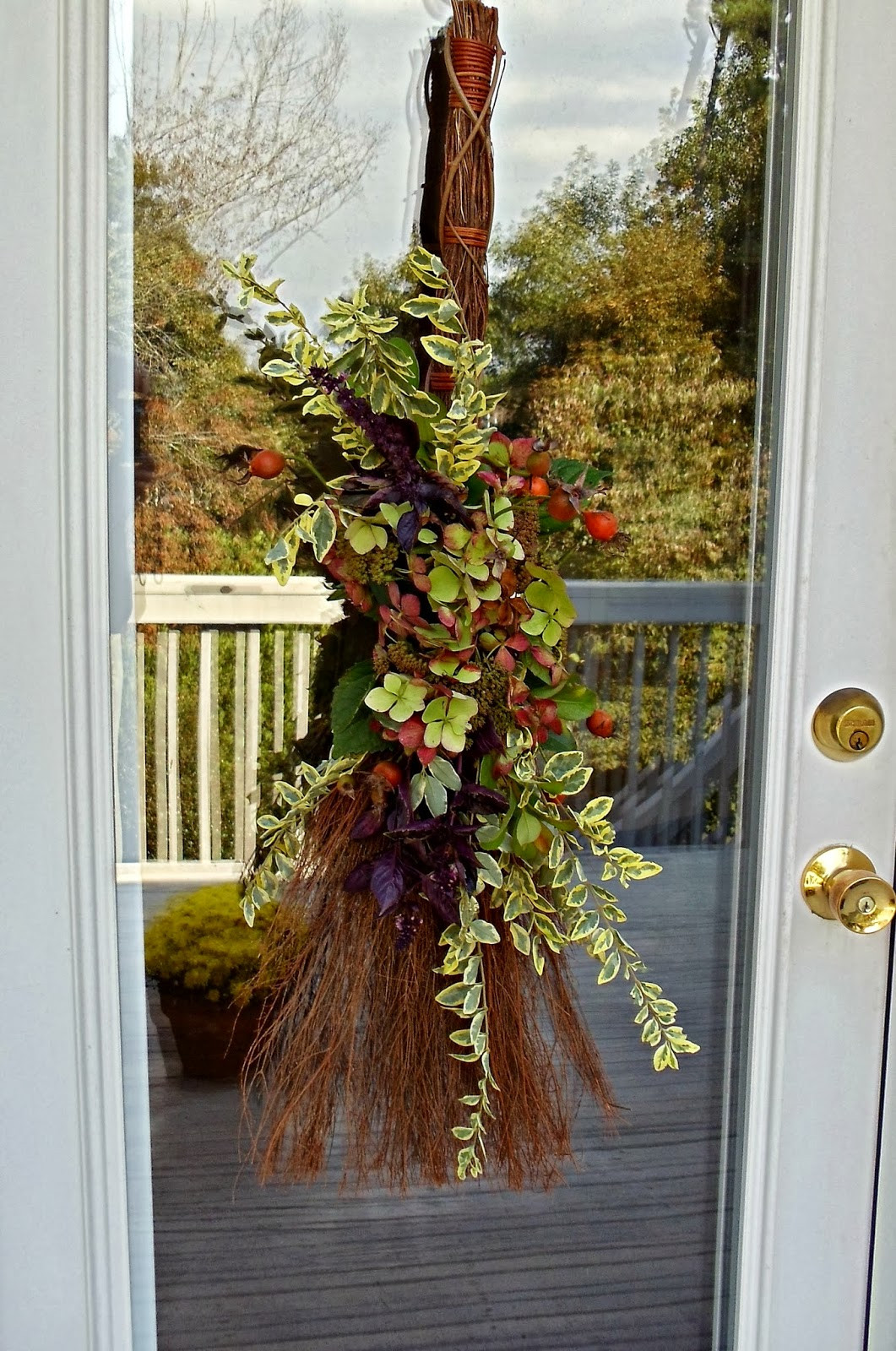 Unique Door Decoration Upstairs Downstairs How to Make An Early Fall Door Decoration