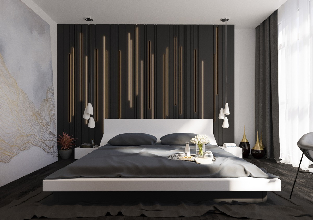 Wall Art Ideas Bedroom 44 Awesome Accent Wall Ideas for Your Bedroom