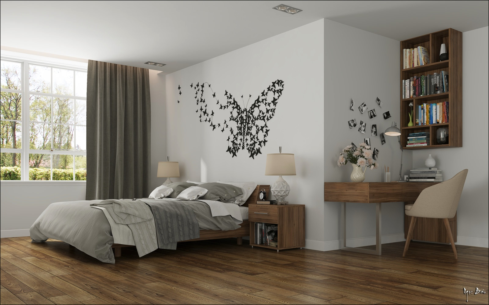 Wall Art Ideas Bedroom Bedroom butterfly Wall Art