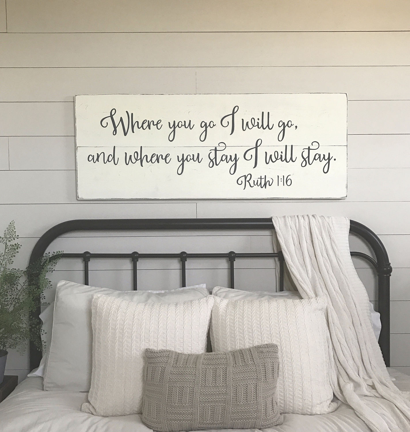 Wall Art Ideas Bedroom Bedroom Wall Decor where You Go I Will Go Wood Signs