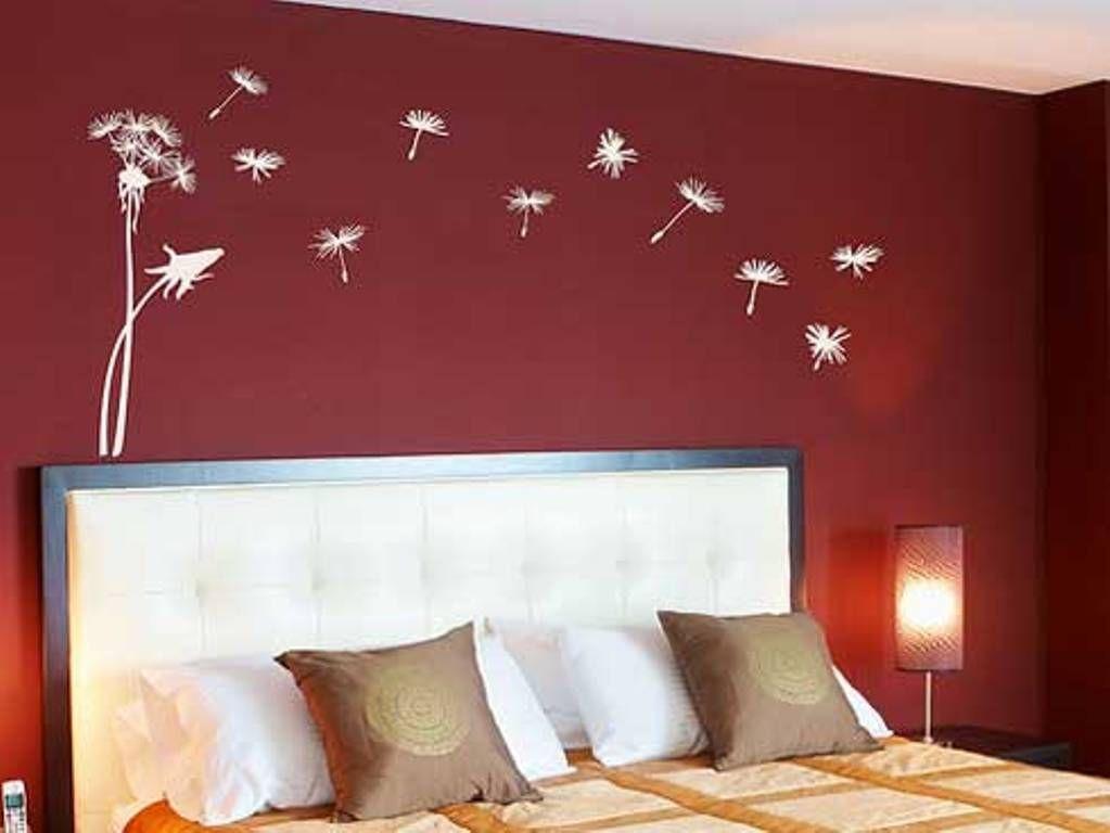 Wall Art Ideas Bedroom Red Bedroom Wall Painting Design Ideas