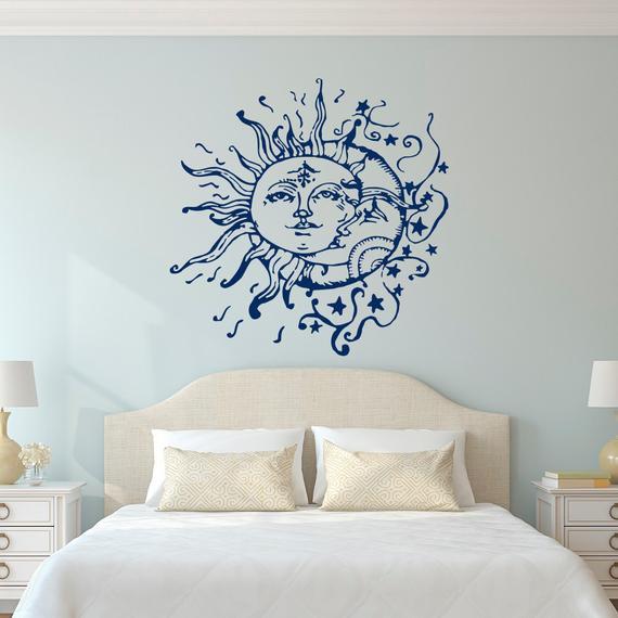 Wall Art Ideas Bedroom Sun Moon Stars Wall Decals for Bedroom Sun and Moon Wall