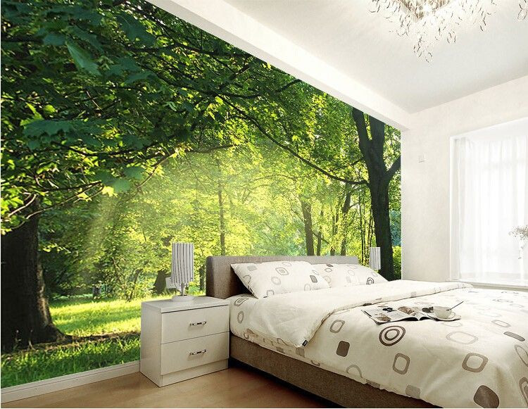 Wallpaper Decoration for Living Room Custom 3d Wallpaper Idyllic Natural Scenery and Flowers