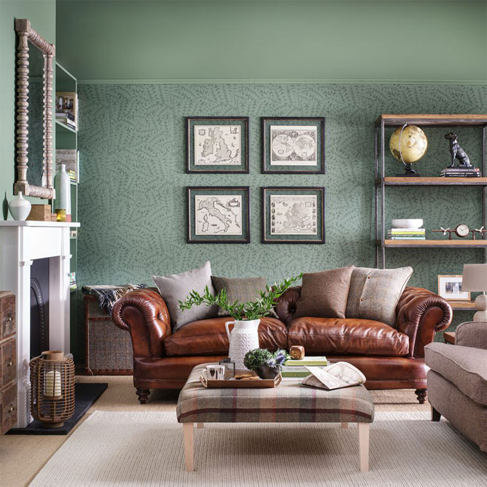 Wallpaper Decoration for Living Room Green Living Room Ideas for soothing sophisticated Spaces
