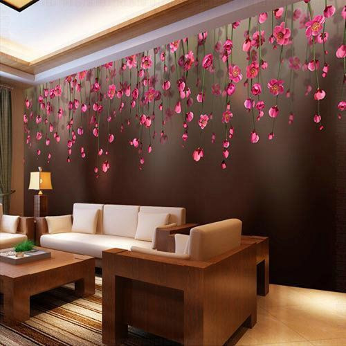 Wallpaper Decoration for Living Room Living Room Designer Wallpaper at Rs 100 Square Feet
