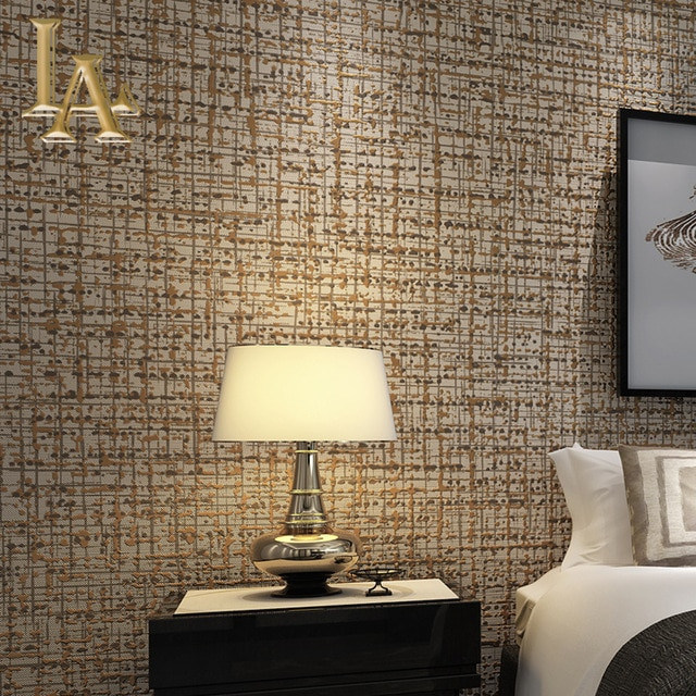 Wallpaper Decoration for Living Room Modern solid Color Flocking Textured Wallpaper Light Grey