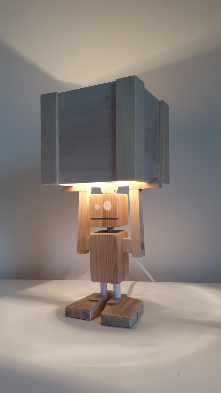 Wooden Lamp Designs New isiah Table Lamp Made Entirely From Reclaimed