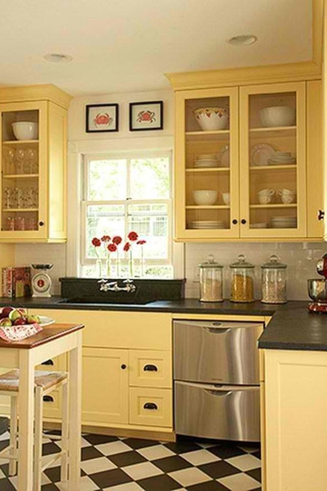Yellow Kitchen Designs Best 20 Yellow Kitchen Cabinets Ideas On Pinterest