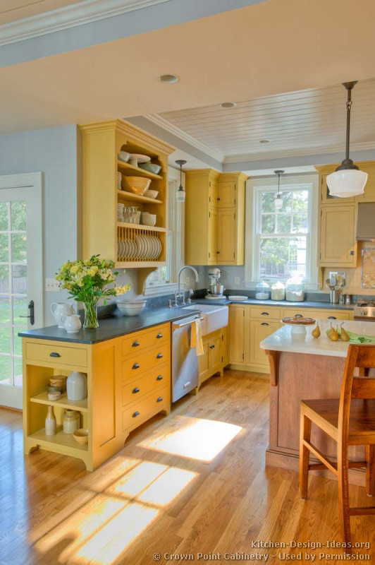 Yellow Kitchen Designs Country Kitchen Design and Decorating Ideas
