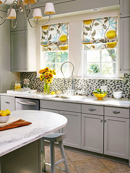 Yellow Kitchen Designs Gray and Yellow Kitchen Contemporary Kitchen Bhg