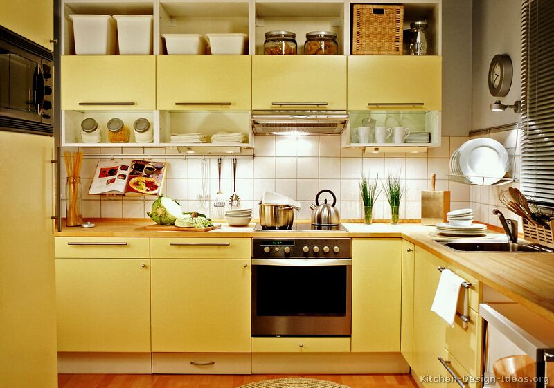 Yellow Kitchen Designs Kitchens In Five Colors – Red Yellow White Blue and