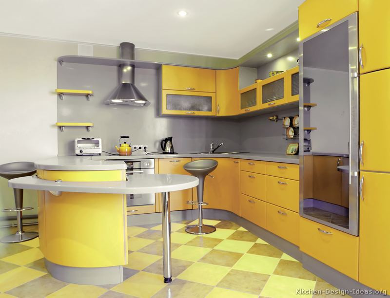 Yellow Kitchen Designs Of Modern Yellow Kitchens Gallery & Design Ideas