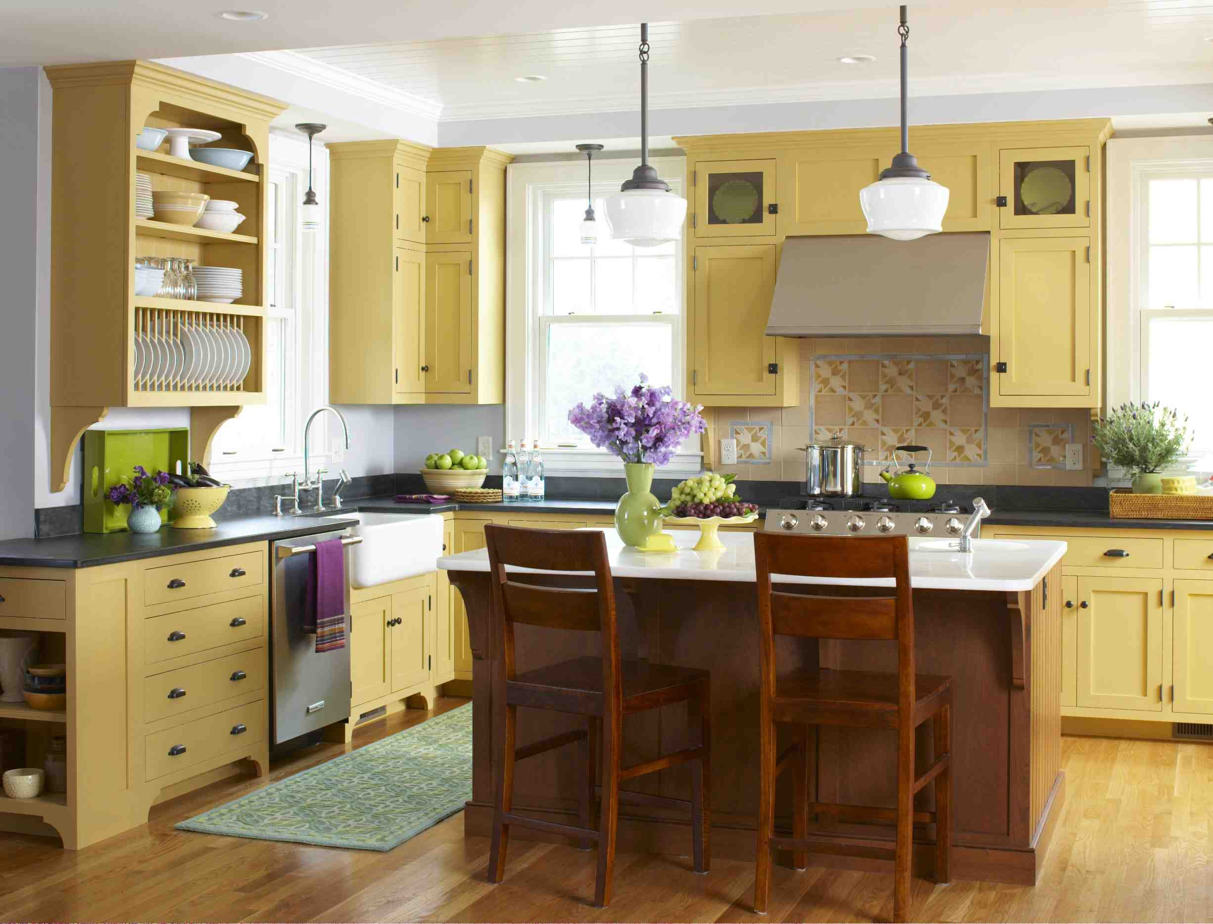 Yellow Kitchen Designs Style Archive—mellow Yellow Kitchen