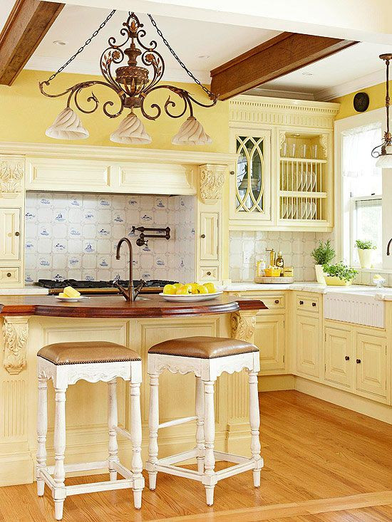 Yellow Kitchen Designs Yellow Kitchen Lighting