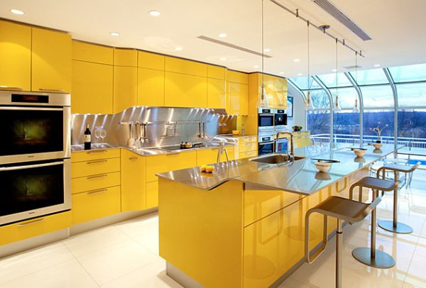 Yellow Kitchen Designs Yellow Kitchens Design 2