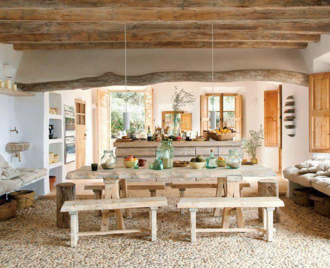 Captivating Rustic Dining Room Designs 47 Calm and Airy Rustic Dining Room Designs