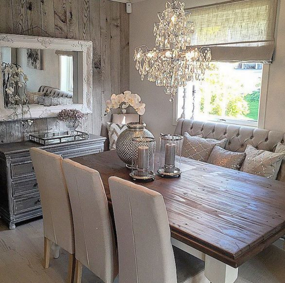 Captivating Rustic Dining Room Designs Rustic Glam Dining Space