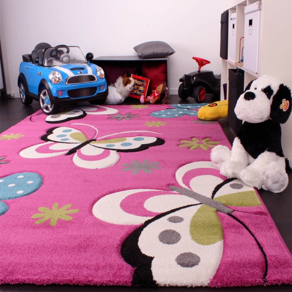 Carpet Designs for Kids Kids Rug butterfly Design Green Grey Black Cream