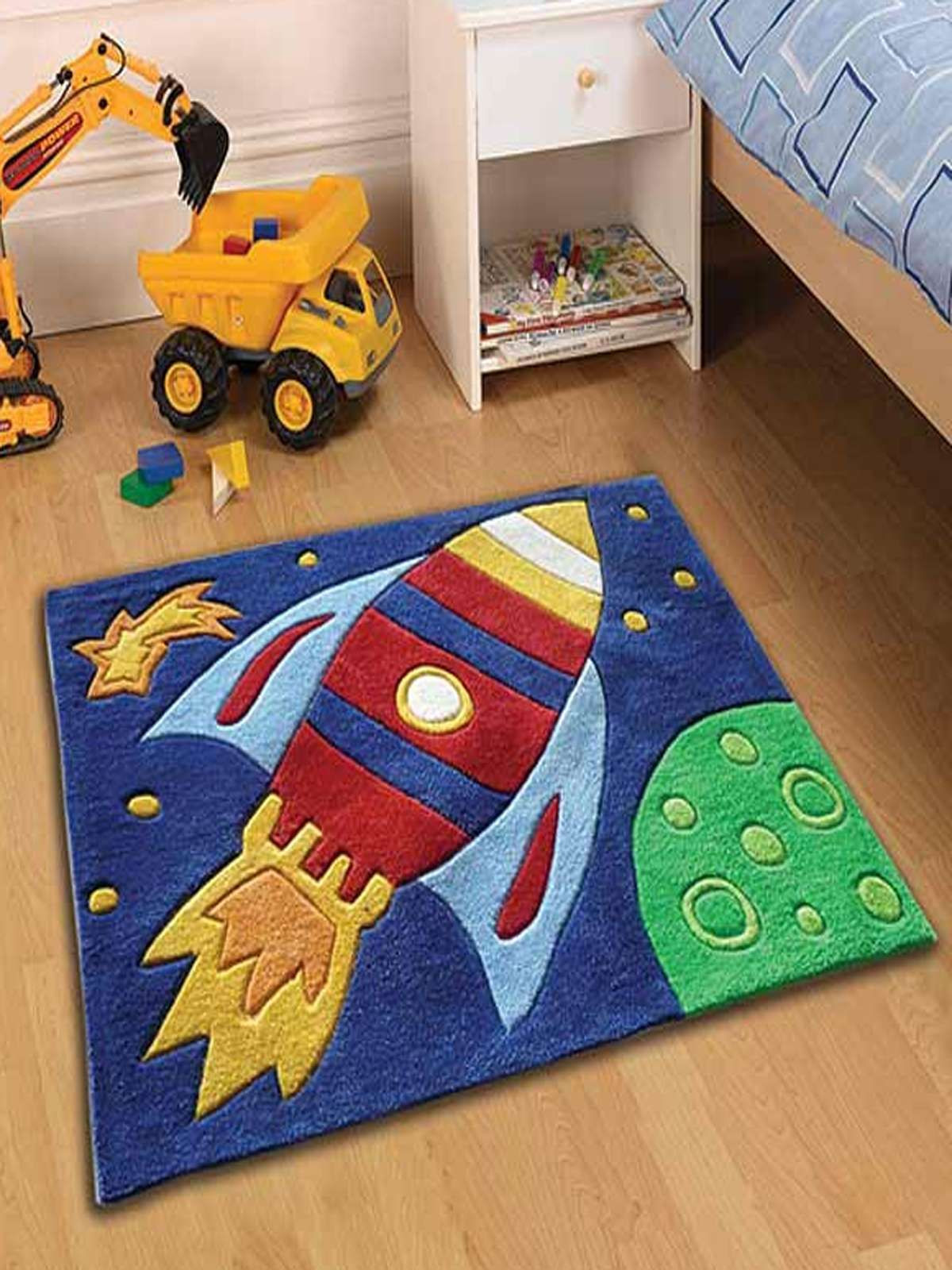 Carpet Designs for Kids Space Rocket Bedroom Rug Kids Bedroom