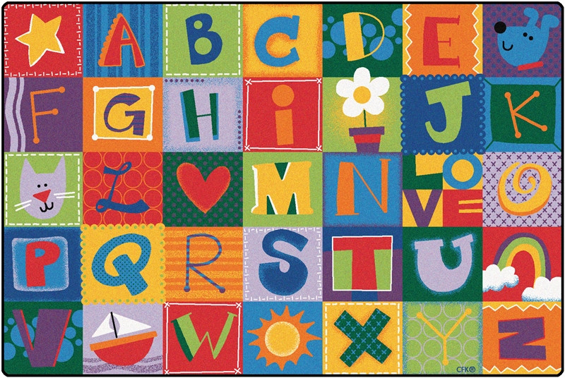 Carpet Designs for Kids toddler Alphabet Blocks Rug