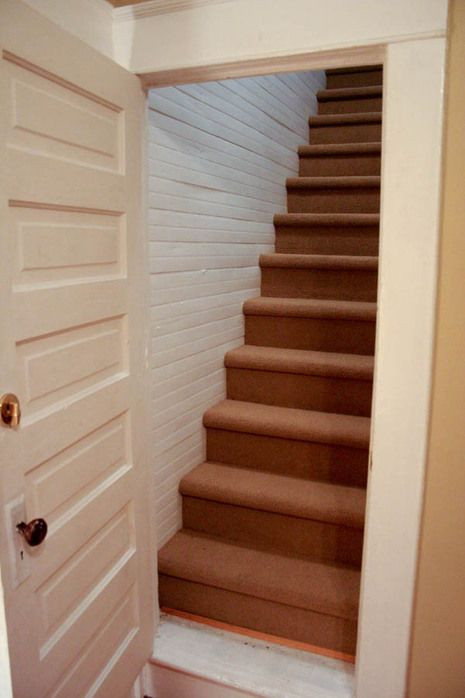 Designing Stairs for the attic before and after attic Stairs Makeover