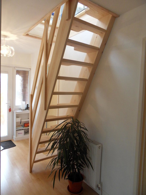 Designing Stairs for the attic Loft Conversion Lounge Contemporary Staircase Other