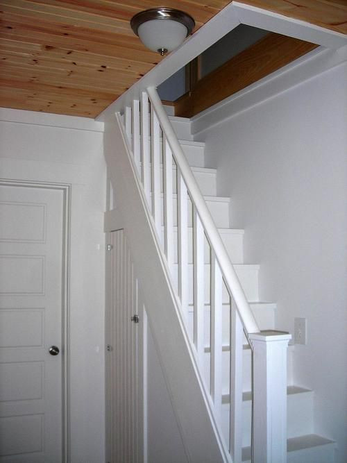 Designing Stairs for the attic Narrow attic Stairs In An Antique Style