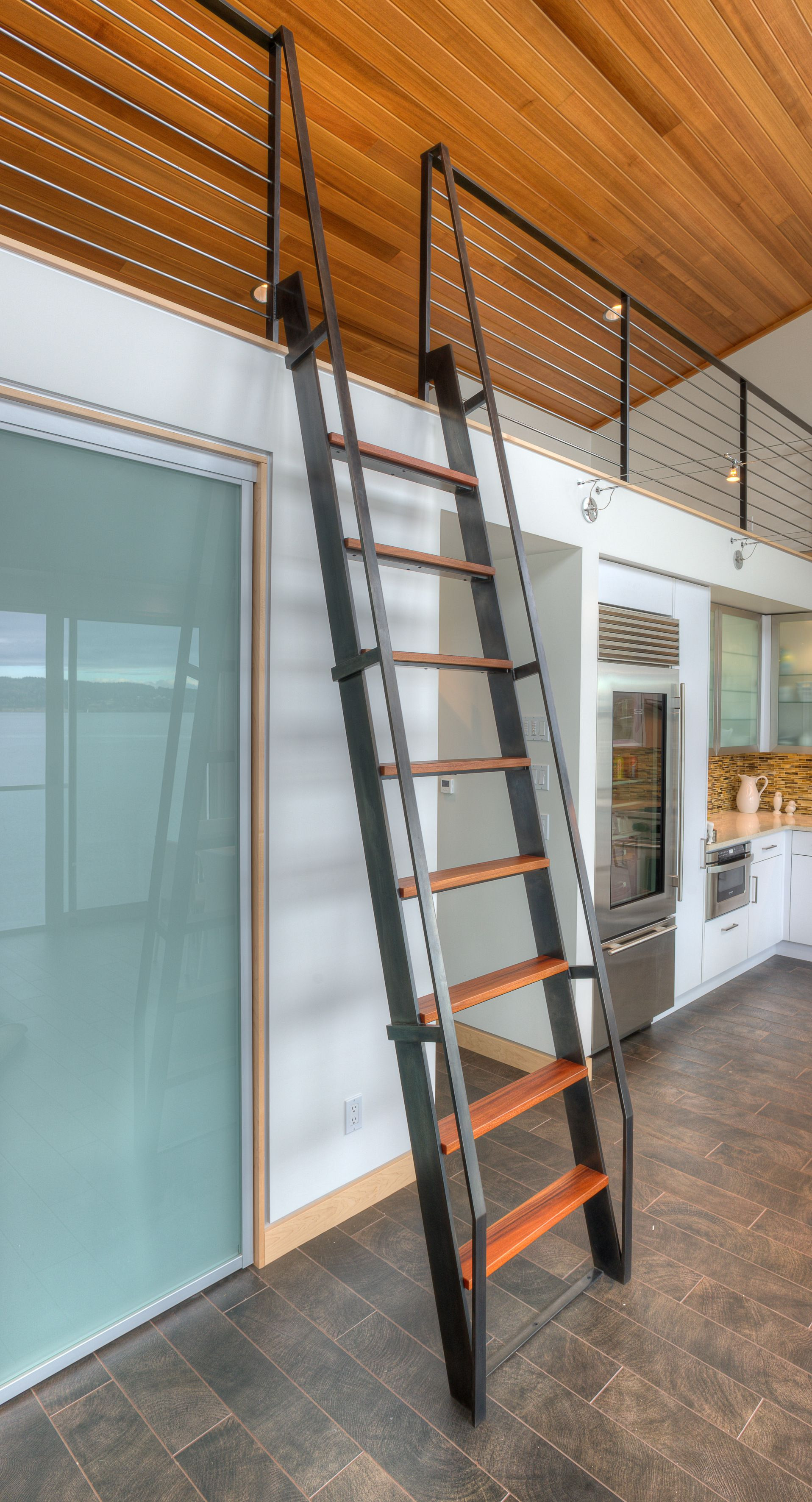Designing Stairs for the attic Tsunami House Designs northwest Architects