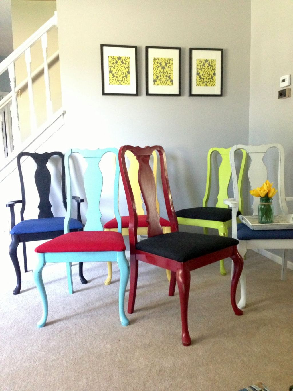 Dining Room Multicolored Chairs 20 Fun Multi Colored Dining Chairs