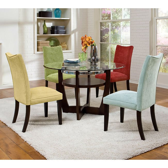 Dining Room Multicolored Chairs Apollo Dining Room Set W Multicolor Chairs Standard