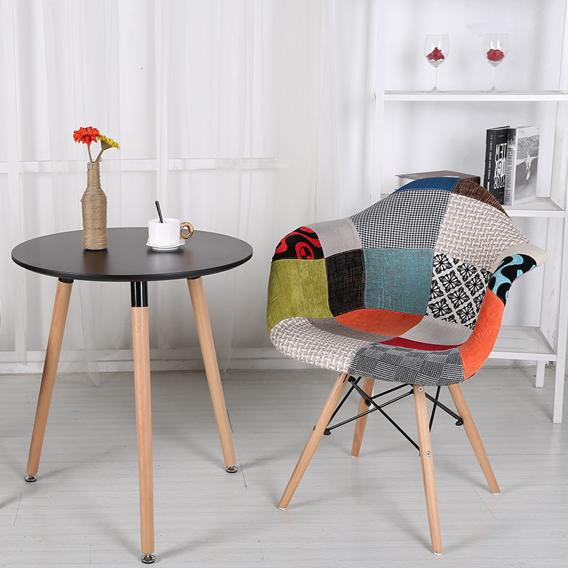 Dining Room Multicolored Chairs Multi Color Modern Patchwork Upholstered Armchair Dining