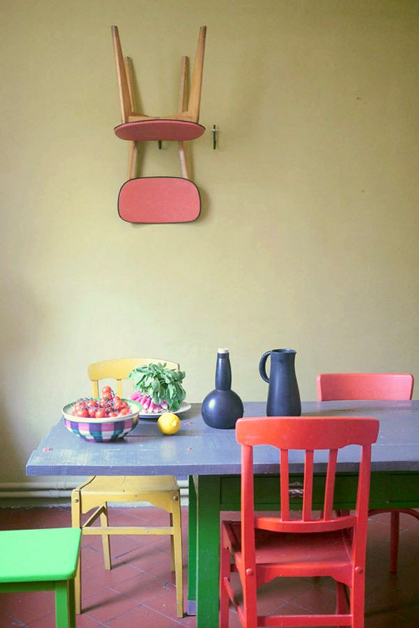 Dining Room Multicolored Chairs Multi Colored Dining Chairs – A Playful touch for the Décor