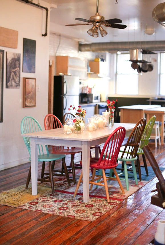 Dining Room Multicolored Chairs Multicolored Chairs Feng Shui Interior Design