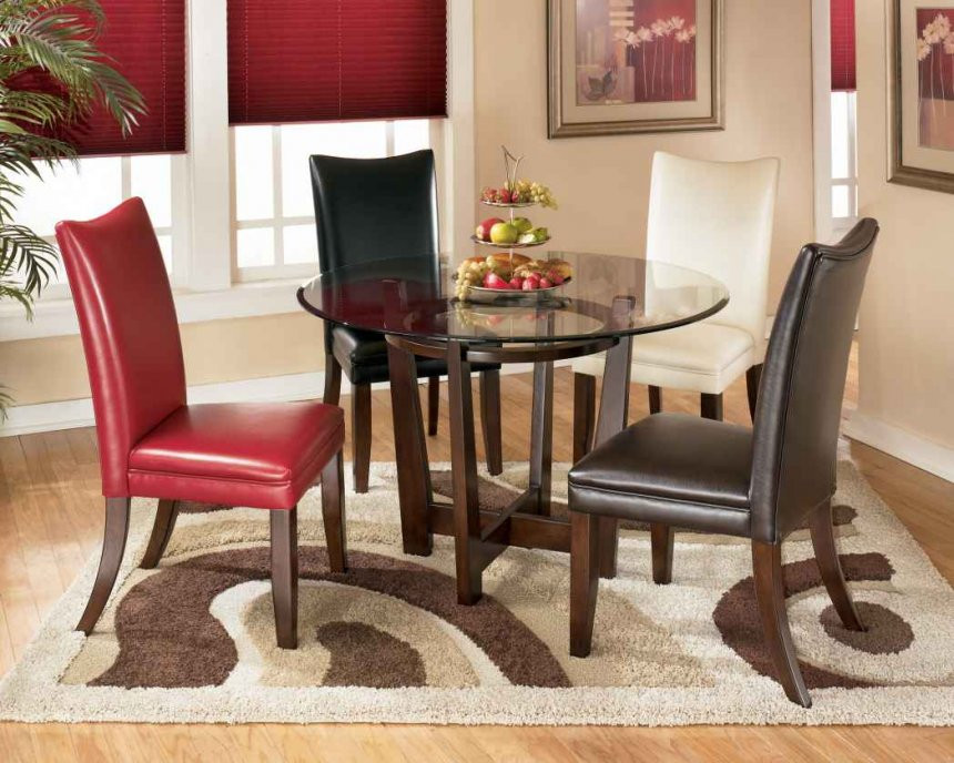 Dining Room Multicolored Chairs Painted Round Table Ideas Multi Color Dining Room Set