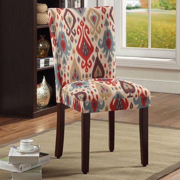 Dining Room Multicolored Chairs Shop Homepop Parson Deluxe Multi Color Ikat Dining Chairs