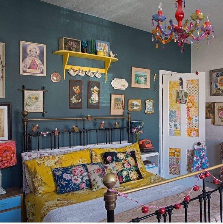 Excellent Bedrooms with Vintage touch Such Pretty Yellows Vintage Cottage Boho Look and the