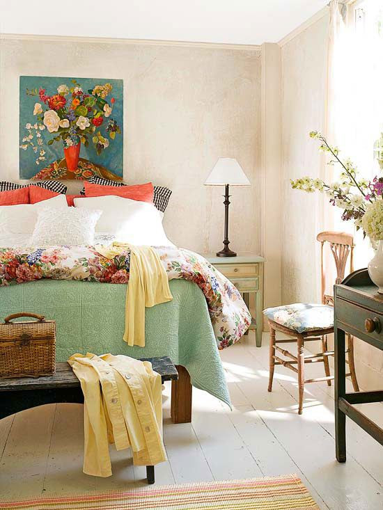 Excellent Bedrooms with Vintage touch the Cottage touch Vintage Decor