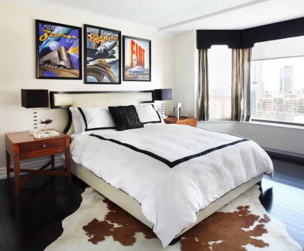 Excellent Bedrooms with Vintage touch Vintage Posters to Decorate Modern Interiors