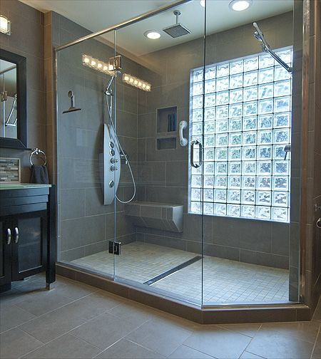 Ideas Glass Block Windows Glass Block Window In Shower Bathroom Ideas