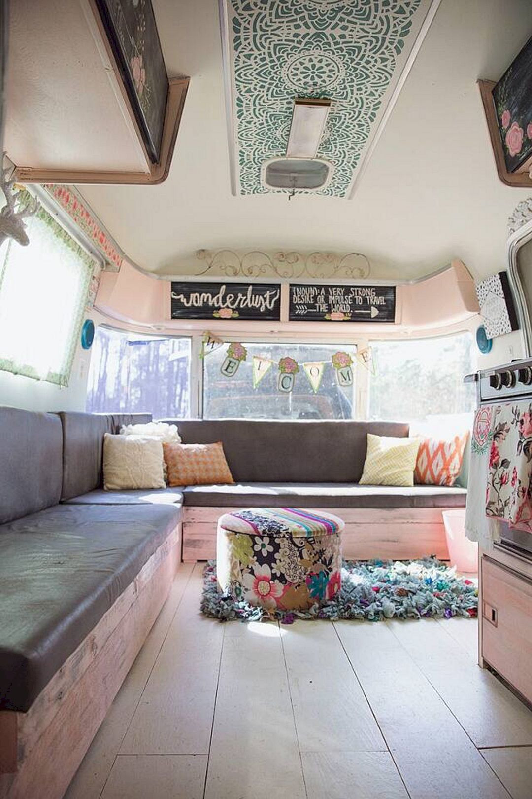 Interesting Airstream Interior Design 45 top Camper Decorating Ideas