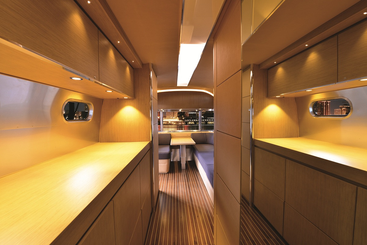 Interesting Airstream Interior Design Airstream Unveils Luxe 'land Yacht' Rv