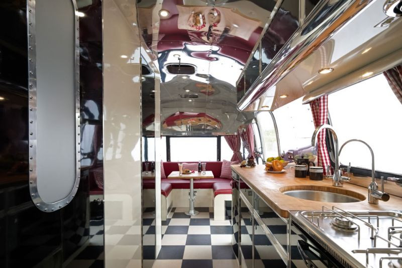 Interesting Airstream Interior Design American Retro Caravans A Refresh On Vintage Airstream