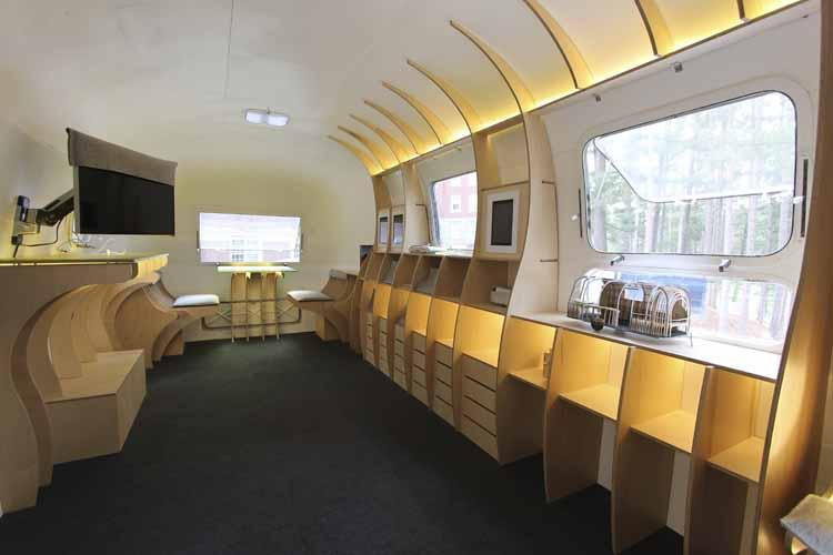 Interesting Airstream Interior Design Architects Transform Vintage Airstream Into Design Center