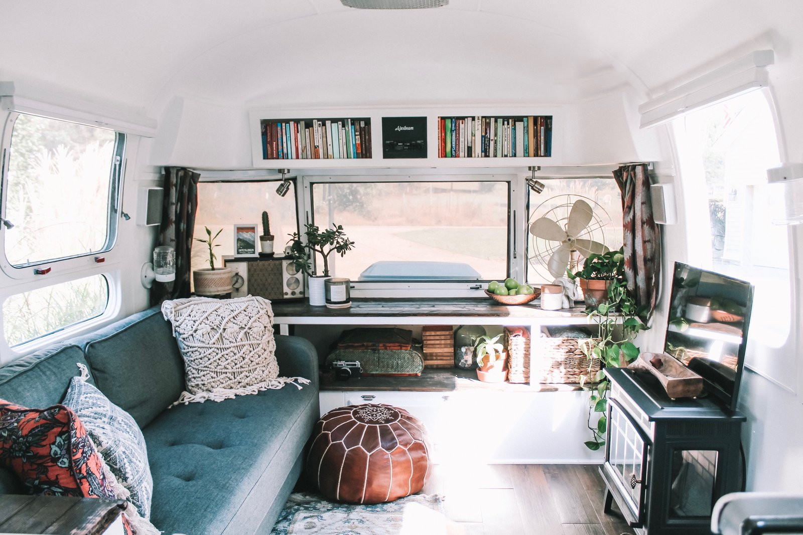 Interesting Airstream Interior Design before & after Augustine the Airstream Gets A Chic Diy