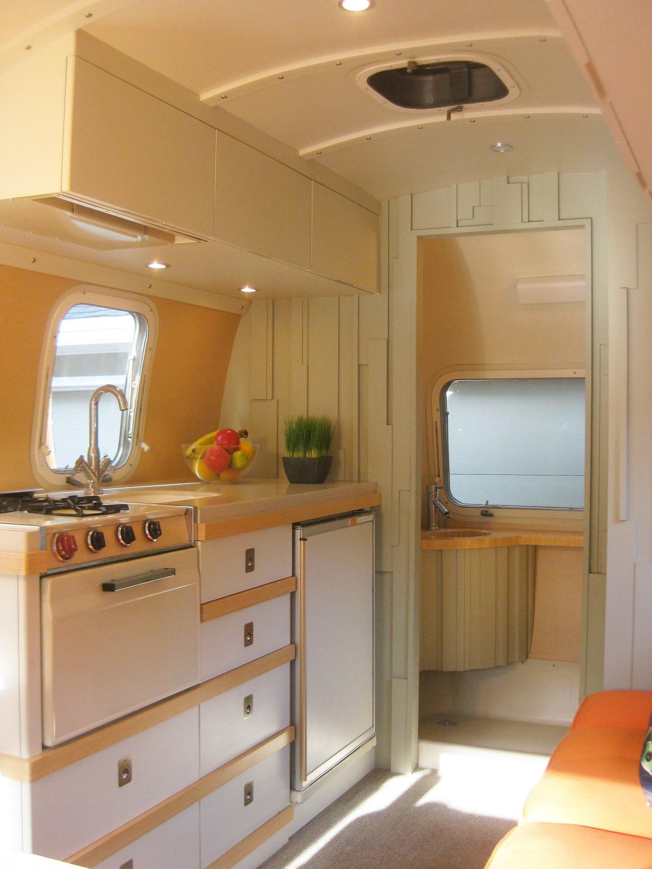 Interesting Airstream Interior Design Small Homes the Move