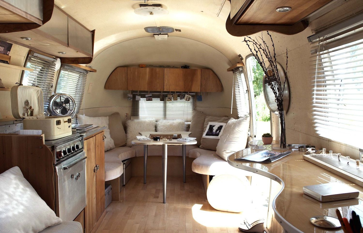 Interesting Airstream Interior Design Small Trailer Decorating Ideas